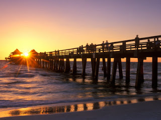 Naples Florida Pier Beach And Downtown