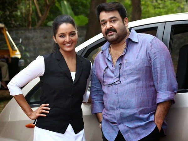 Mohanlal with Manju Warrior