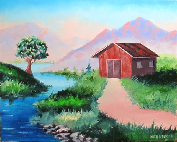 Simple Painting Of Landscape Images