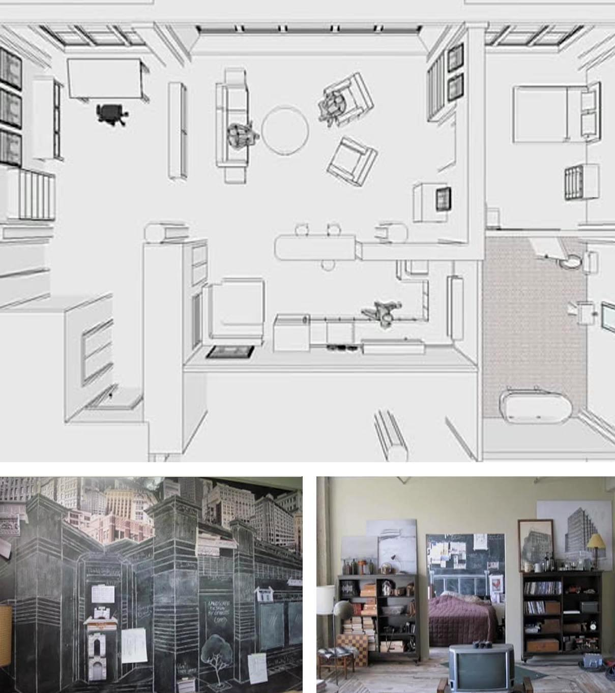 Architecture Drawing 500 Days Of Summer movie inspiration: 500 days of summer | design gourmande