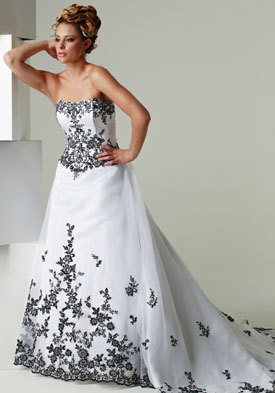 Hot New Fashion Trends: black and white wedding dress 2012 pic