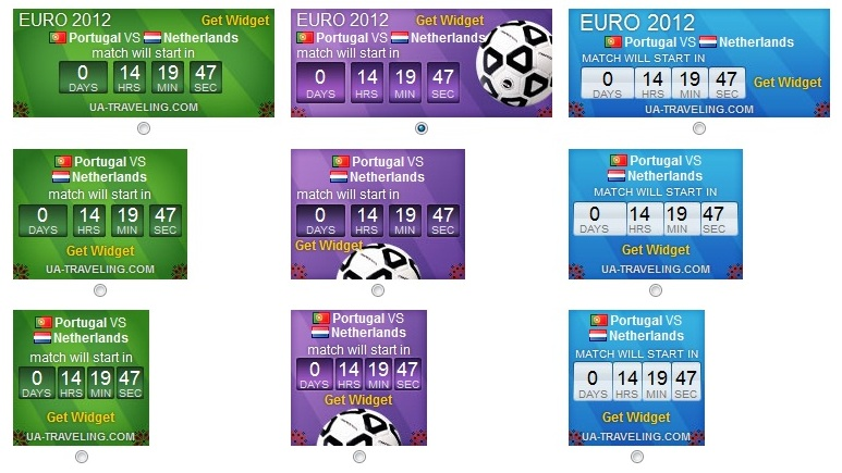 Cara Pasang Euro 2012 Countdown Widget (Jadwal Pertandingan)
