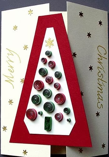 quilled Christmas tree tutorial