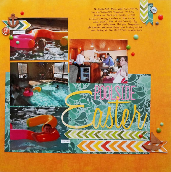 Pool Scrapbook Layout