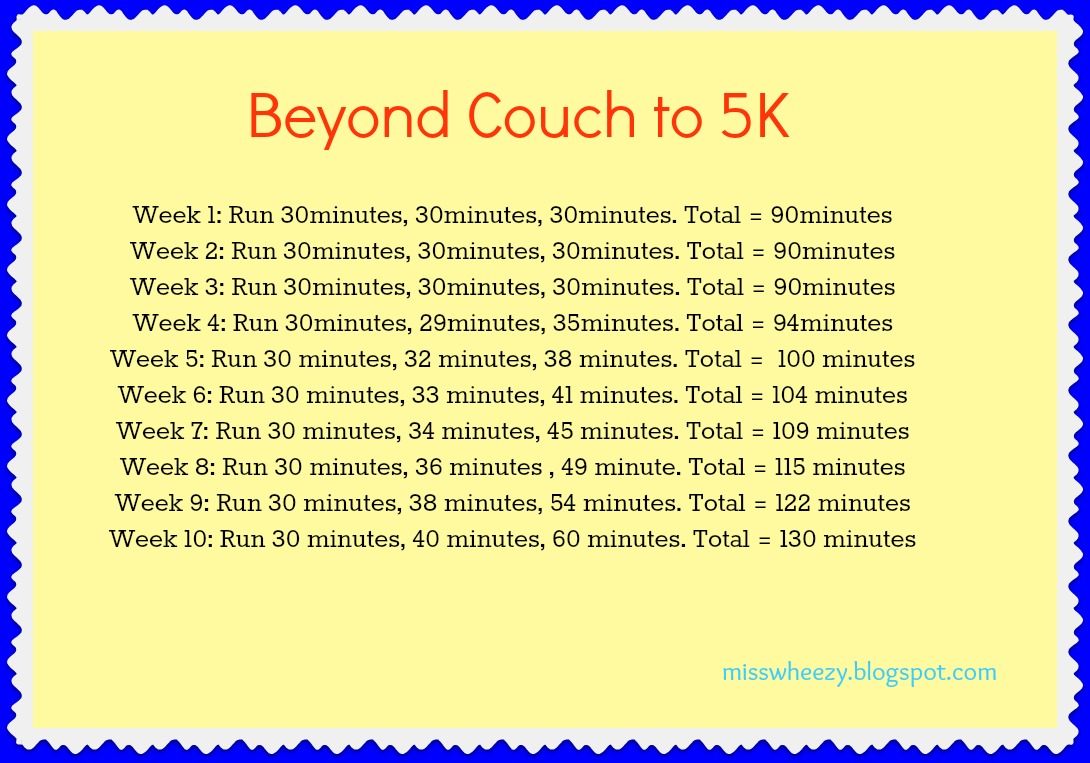 This is a photo of Sassy Couch to 5k Plan Printable