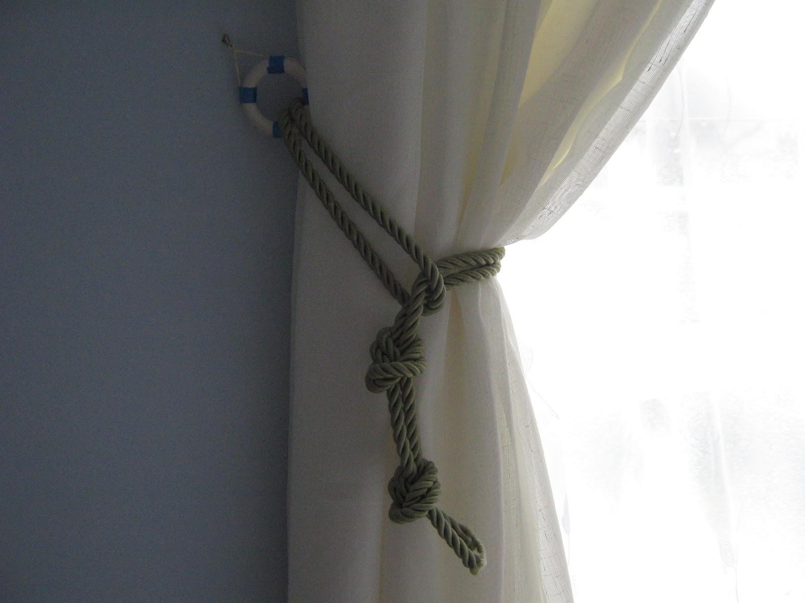 Creative Curtain Tie Backs Ideas : Creative Curtain Tie Backs Ideas : Nautical Curtain Tie Back Idea