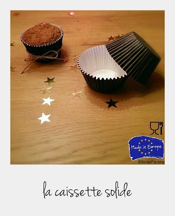 Caissette muffin alimentaire marron solide