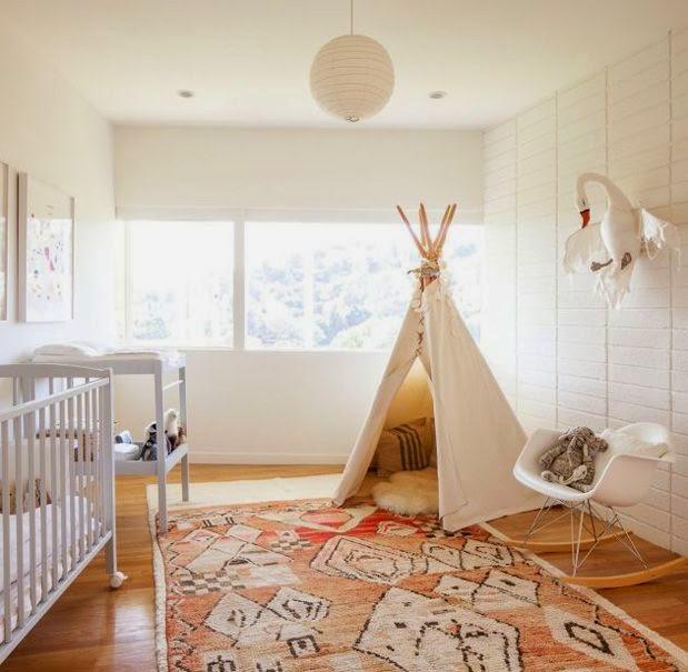 Childrenu0027s Bedroom With Teepee Den