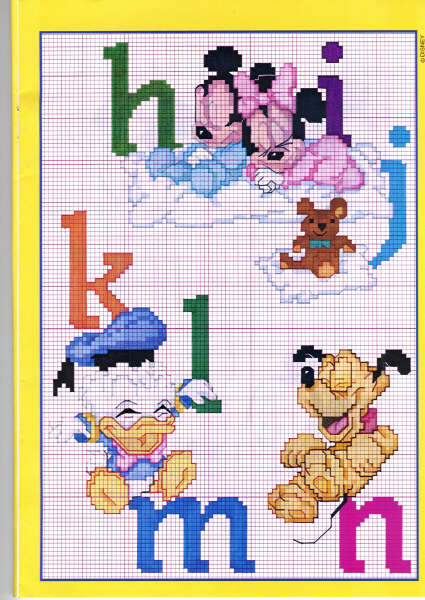Punto croce disney babies 43 alfabeto for Disney punto croce schemi gratis