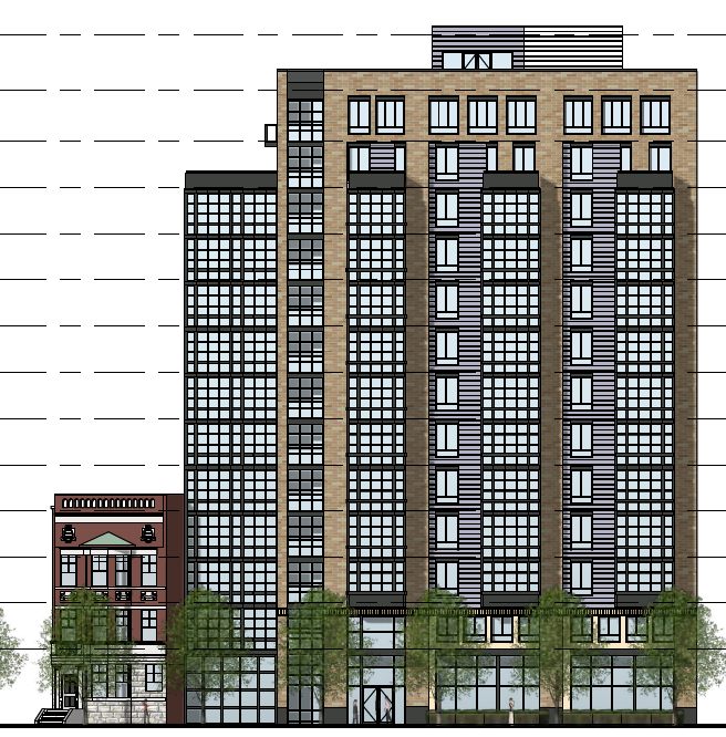 Front Elevation Hotel : Eastshawdc hotel planned for block of new york avenue nw