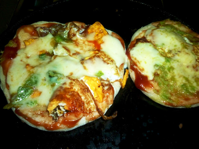 easy,delicious Kids pizza with eggs