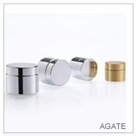 Agate Metal Jar | Metal Cosmetic Jar
