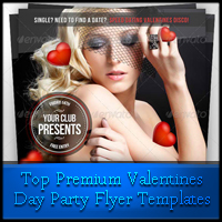 Top Premium Valentine's Day Party Flyer Templates