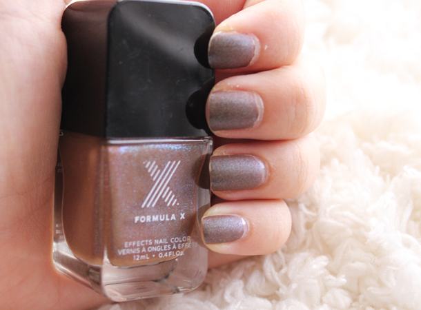 sephora formula x brushed metallic nail polish review swatch determined duochrome