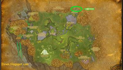 wow Изначальная вода: карта