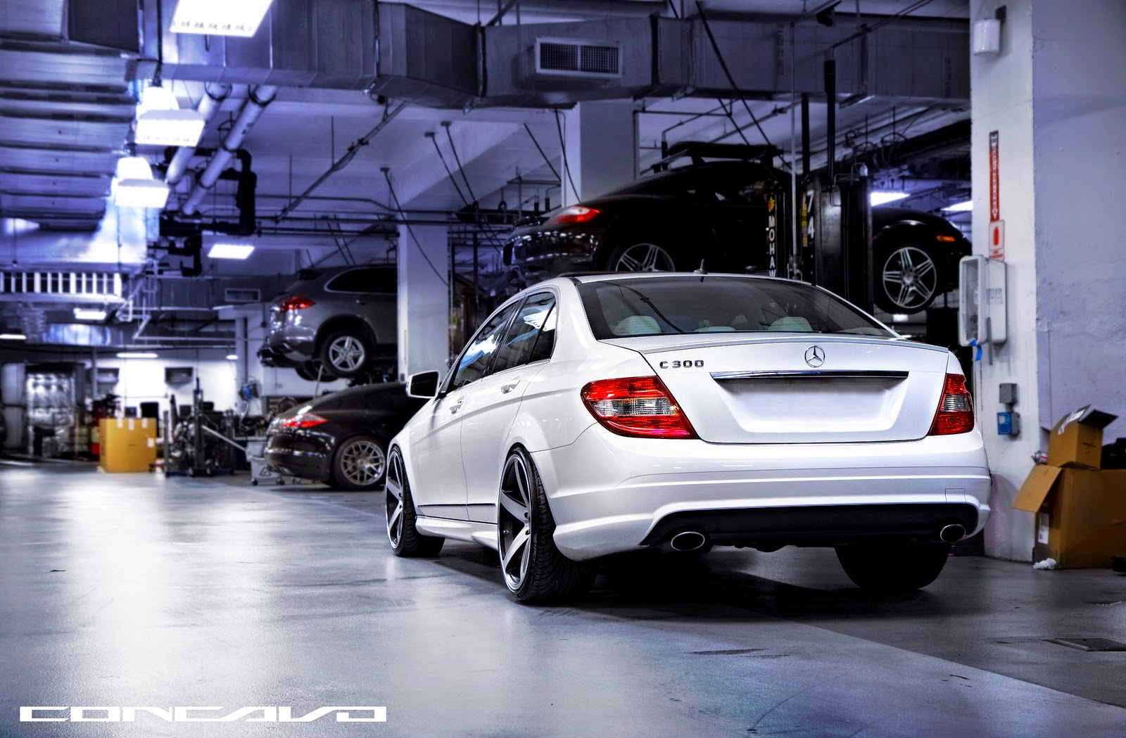Benztuning mercedes benz w204 c300 on 20 cw 5 concavo wheels for Rims for mercedes benz c300