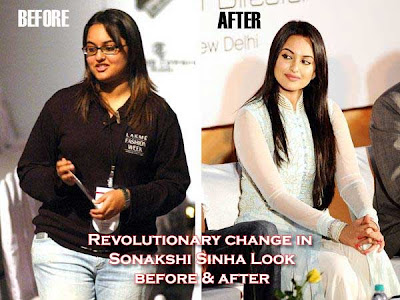 Sonakshi Sinha earlier fat pics and current photo in salwar kammez - Before and after