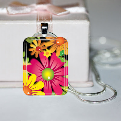Digital Photo Template for Glass Pendant