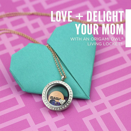 Mama Origami Owl Living Locket is a beautiful gift for Mother's Day, birthday, Christmas or a Baby Shower gift | StoriedCharms.com