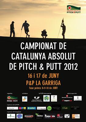 Cartell Campionat Catalunya Absolut Pitch & Putt 2012