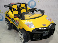 DoesToys DT66 Lamborghini 2 Gearbox 2XL Rechargeable-battery Operated Toy Car Yellow