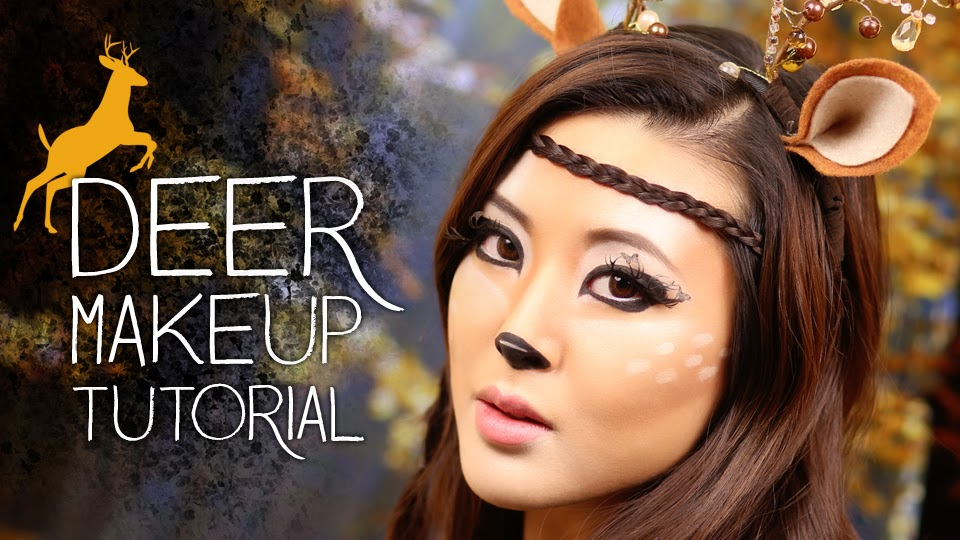 Deer Makeup Tutorial Halloween 2013  From Head To Toe - Pretty Halloween Makeup Tutorial