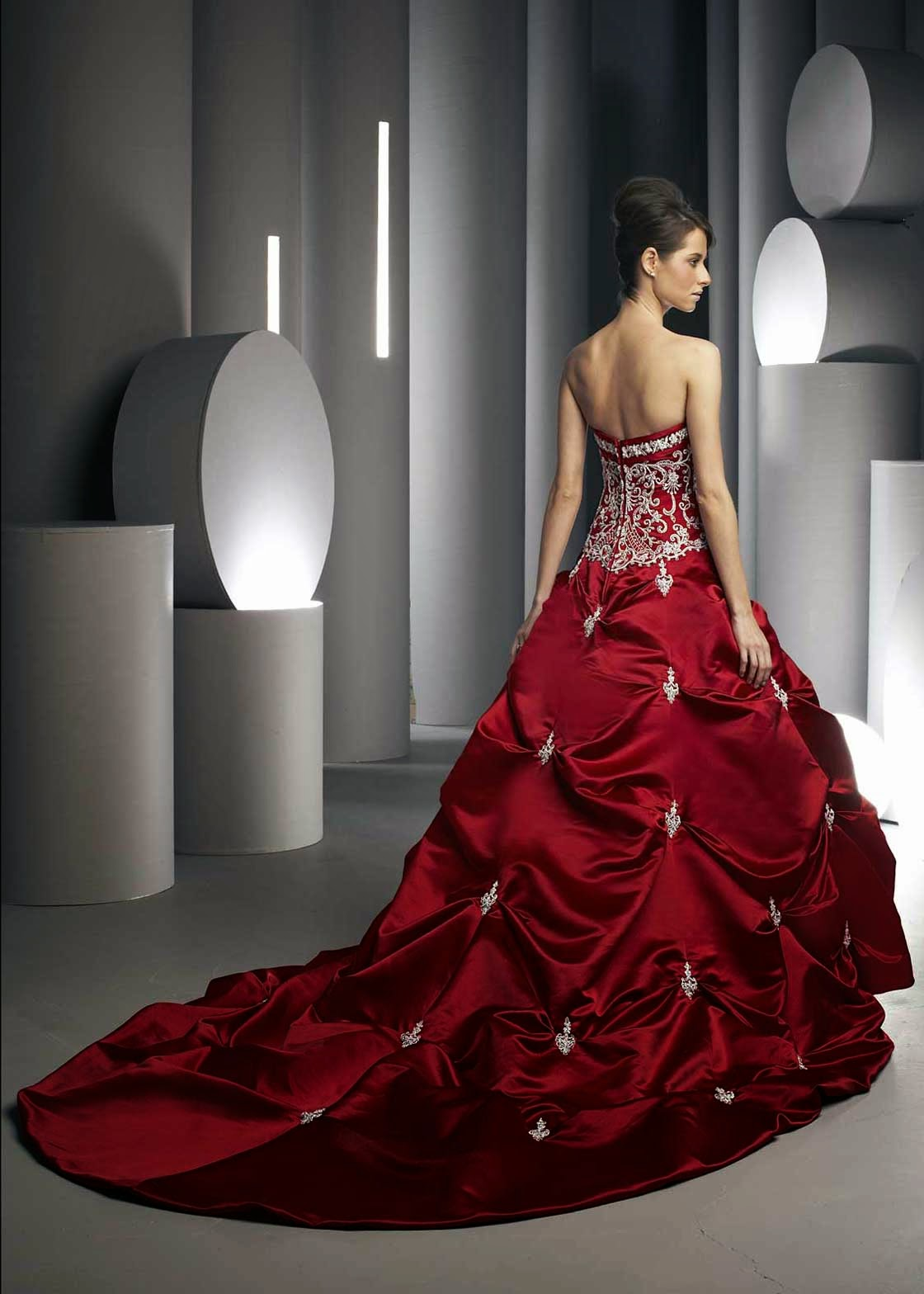 Red Colored Wedding Dresses Photos HD Concepts Ideas