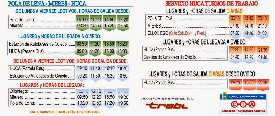 Autobuses de asturias nuevos horarios de llaneza entre for Camiones usados en asturias