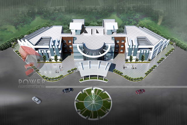 3d architecture design,Green Hospital Architecture