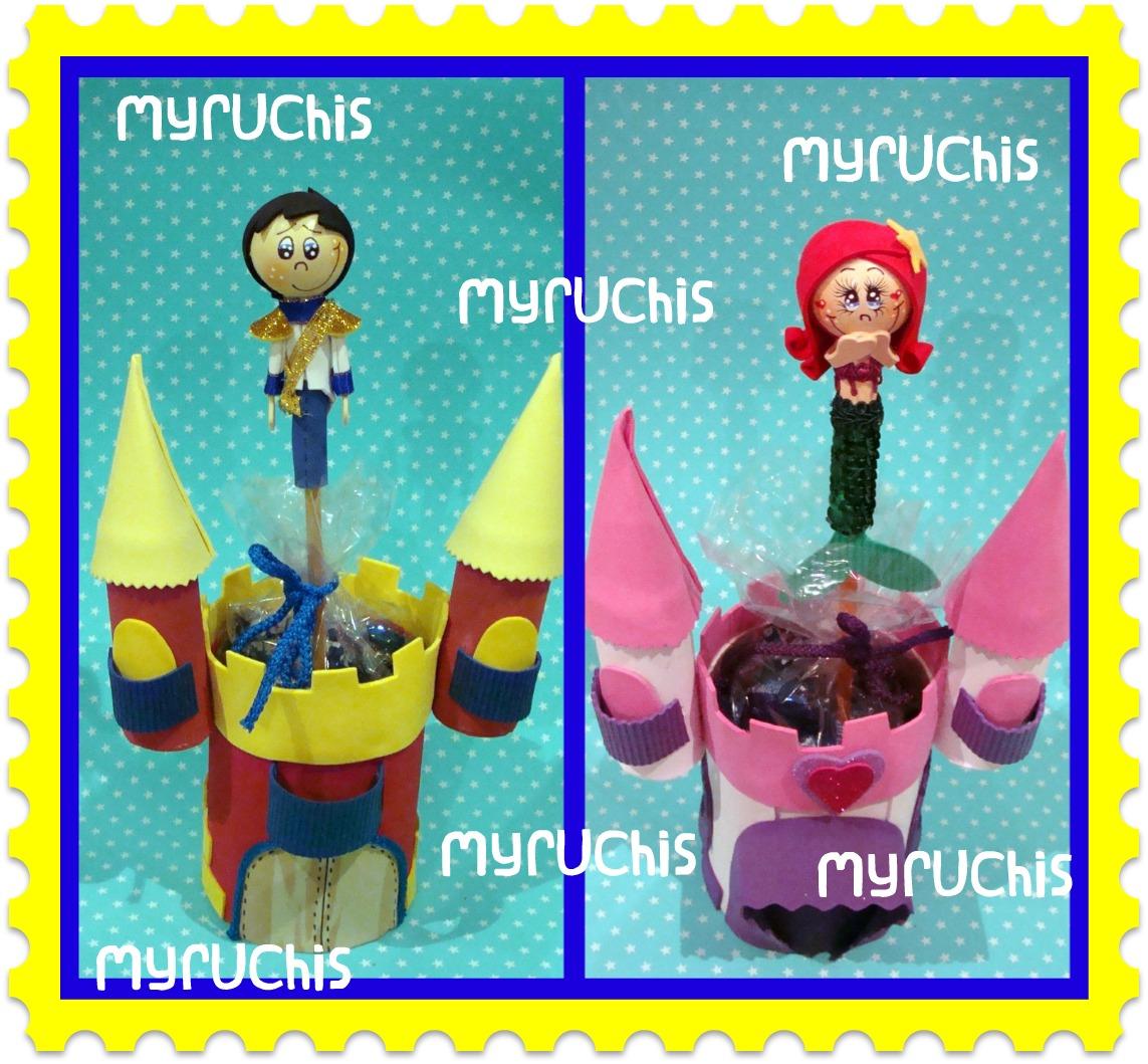 Myruchis dulceros de princesas - Castillos para ninos de infantil ...