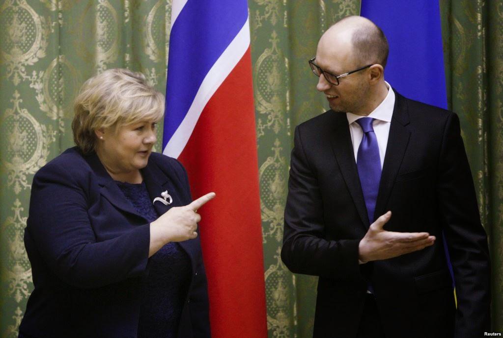 Премьер-министр Яценюк предложил премьер-министру Норвегии Солберг участвовать в модернизации украинской газотранспортной системы