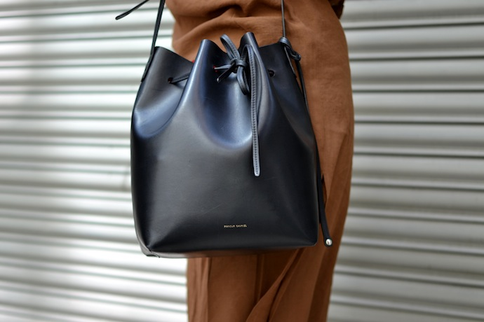 Mansur Gavriel bucket bag blogger