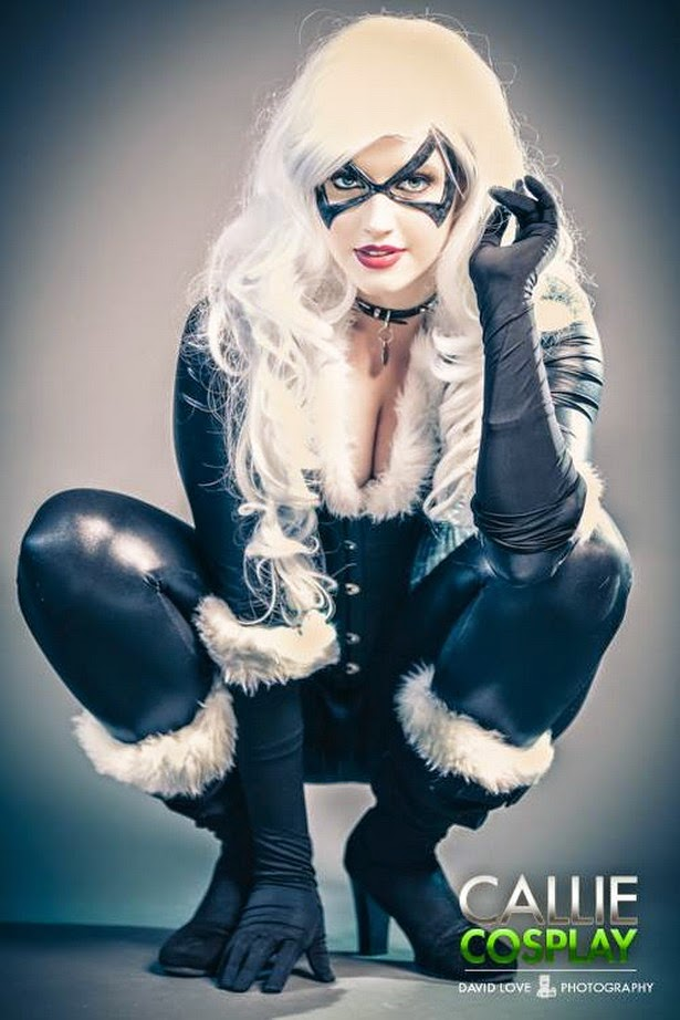Callie Cosplay disfrazada de Black Cat (Marvel Comics)