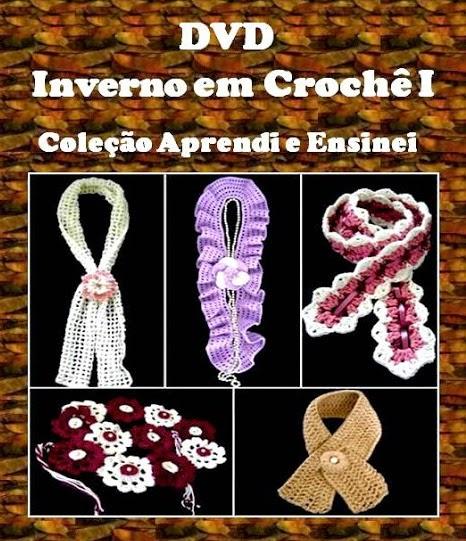 dvd flores folhas ponto-a-ponto frete gratis loja curso de croche por aprender croche