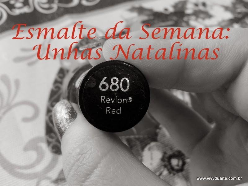 bd1d3f7da28c6 Vivy Duarte  Esmalte da Semana  Unhas Natalinas