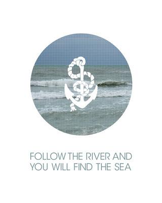 anchor silhouette over an ocean image