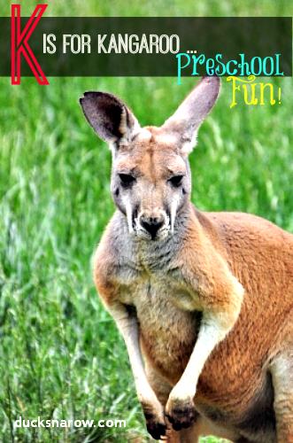 K is for Kangaroo Preschool Activities #preschool #kidsactivities #letterK Ducks 'n a Row