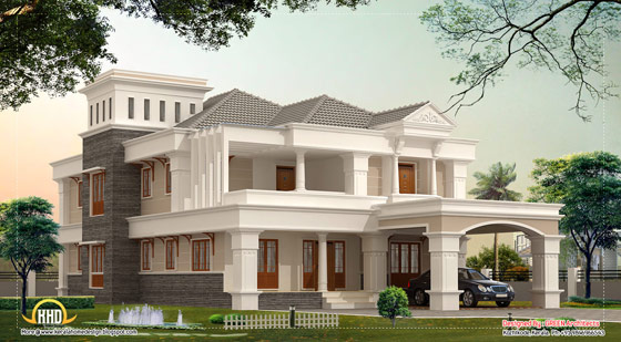 Luxury villa design - 3700 Sq. Ft. (344 Sq.M.) (411 Square Yards) - April 2012