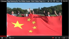 Chinese RED Flag Raising By The White House