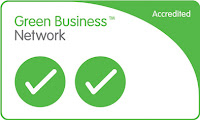 accreditation logo for PHPR in the Green Business Partnership with 2 ticks