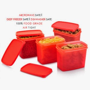 Pepperfry: Buy All Time Sleek Container 4 Pcs Set 850ml at Rs.149