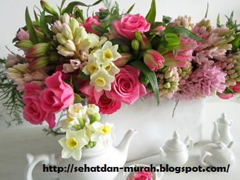 Buket bunga segar untuk aromatheraphy alami