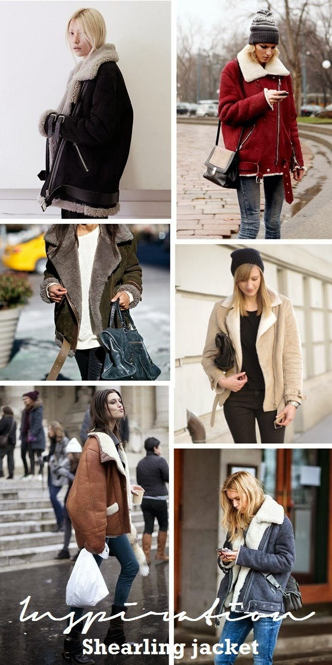 shearling jacket, inspiration, inspirational board, fashion trends 2014 winter fall, style blogger, fashion blogger
