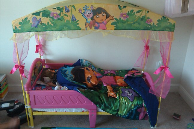 A Big Blessed Family: Toddler bed transformation