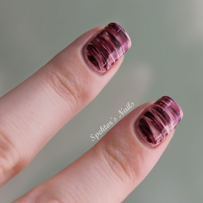 Purple Strokes Nail Art Essie