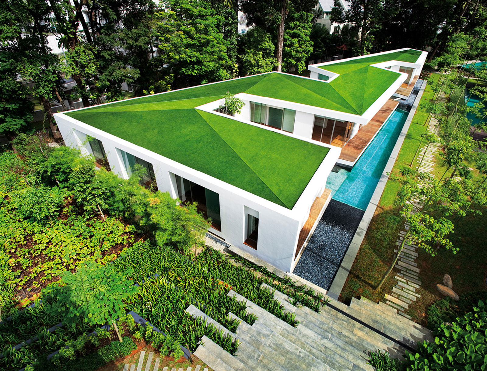 Neocribs Modern Tropical Asian House Zig Zag House