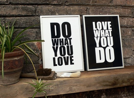Laminas decorativas do what you love love what you do - tres studio - bloggers valencia