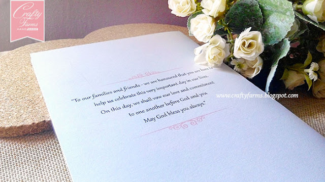 Ceremony Booklet with Wedding Order of Service