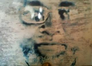 Face of dead islamic cleric Alfa Sheikh Ibrahim Niass