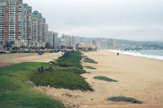 La playa de los Marinos en Viña del Mar